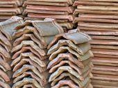 Pila de baldosas cerámicas tomado closeup. — Foto de Stock