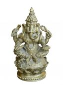 Hindoe godheid ganesha statue.isolated. — Stockfoto