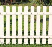 White fence taken closeup. — Stock Photo