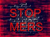 Stop MERS Virus Epidemic concept.Digitally generated image. — Stock Photo