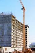 Building construction site with big crane. — Stock Photo