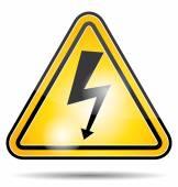 High voltage danger panel. Electricity icon. — 图库矢量图片