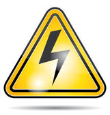 Electrical power danger icon. — Stock Vector