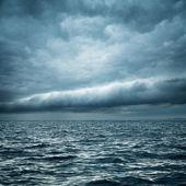 Stormy Sea. Wild Nature Dark Background. — Stock Photo