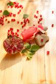 Pomegranate essence lotion — Stock Photo