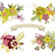 Vintage Floral Elements Collection — Stock Vector #72452901