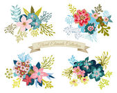 Vintage Floral Elements Collection — Stock Vector