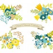 Vintage Floral Elements Collection — Stock Vector #72842595