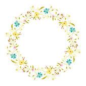 Floral Wreath — Stock Vector