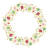 Floral Vector Wreath — Stock Vector