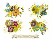 Floral Elements Collection — Stock Vector