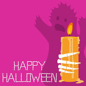 Happy Halloween Greetings Card — Stock Vector