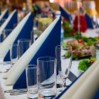Table prepared for wedding banquet — Stock Photo #59913523