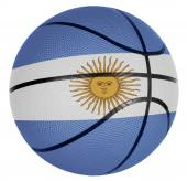 Basketball ball with flag of Argentina — Stock Photo