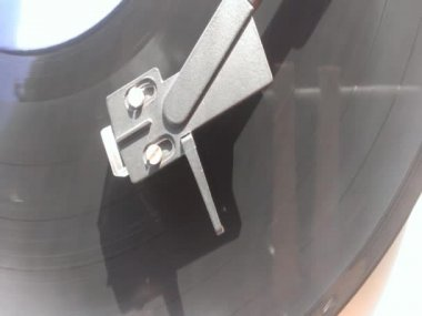 Old vintage gramophone — Stock Video