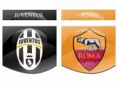 Juventus vs roma — Stock Photo