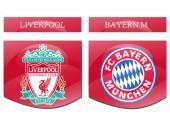 Liverpool vs bayern munchen — Stock Photo