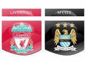 Liverpool vs manchester city — Stock Photo