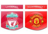 Liverpool vs manchester united — Stock Photo