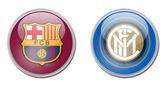 Barcelona vs inter — Stockfoto