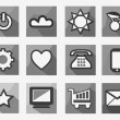 Black and white icons — Stock Vector #70751643