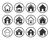 Conjunto de iconos inicio — Vector de stock
