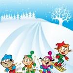Family ski trip — Stock Vector #62304599