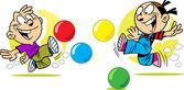 ボールのゲーム — ストックベクタ