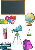 School attributes — Stock Vector