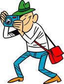 Cartoon photographer — Stock Vector