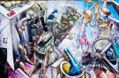BERLIN, GERMANY- JULY 31, 2014: Berlin Wall was a barrier constr — Stock Photo