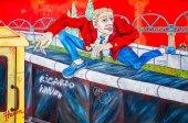 Berlin, niemcy-31 lipca 2014: mur berliński był konstrukcji bariery — Zdjęcie stockowe