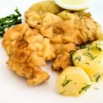 Wiener schnitzel, veal cutlet and lemon — Stock Photo #53467887