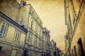 Vintage Street view of old town in bordeaux city — Photo