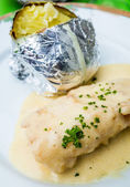 Tabak balık ve patates — Stok fotoğraf