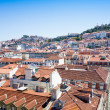 Old Town Lisbon on May 11, 2014. street view of typical houses i — Stock Photo #54621155
