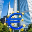 Euro Sign. European Central Bank (ECB) is the central bank for t — Stock Photo #54622147