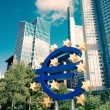 Euro Sign. European Central Bank (ECB) is the central bank for t — Stock Photo #54622253