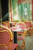 Old-fashioned Cafe terrace — Stock Photo