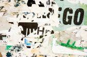 Texturas de grunge cartazes velhos — Fotografia Stock