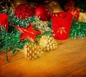 Gamla gammaldags juldekoration — Stockfoto