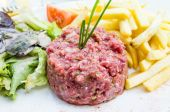 Tasty Steak tartare (Raw beef) — Stock Photo