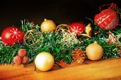 Old fashioned Christmas decorations — Stock Photo