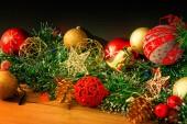 Old fashioned Weihnachtsdekoration — Stockfoto