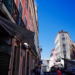 Beautiful street view of historic architectural in Lisbon — Stock Photo #58600293