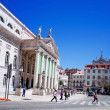 Beautiful street view of historic architectural in Lisbon — Stock Photo #58600497