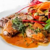 Fine dining cuisine close up — Stock Photo