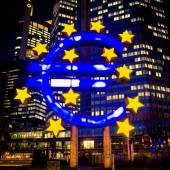 Frankfurt, Germany-February 12 : Euro Sign. European Central Ban — Stock Photo