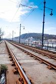 Piękny Tramwaje w Budapest, Węgry — Zdjęcie stockowe