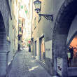 Beautiful street view of Traditional old buildings in Zurich — Stock Photo #61924137